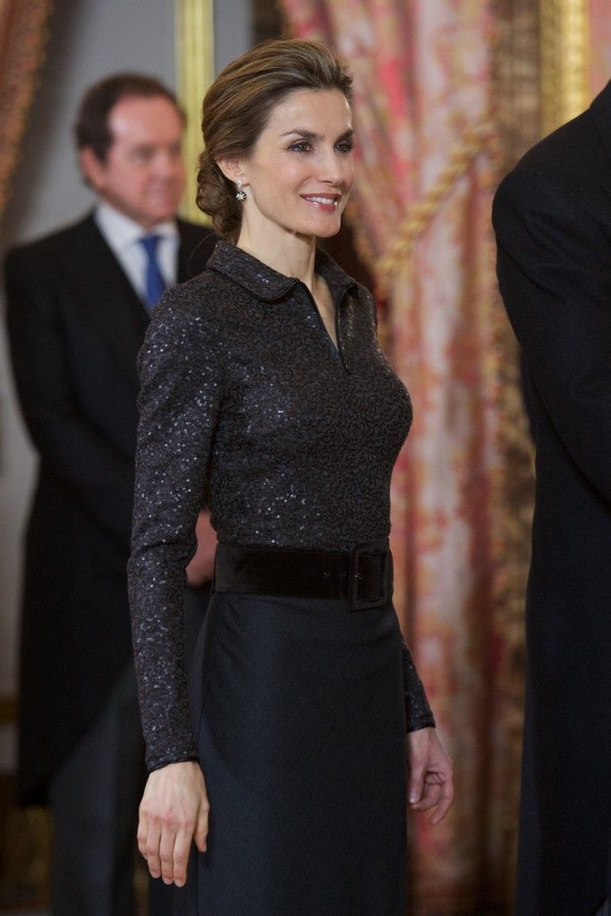 Queen Letizia of Spain Photos: King Felipe VI Receive New Ambassadors