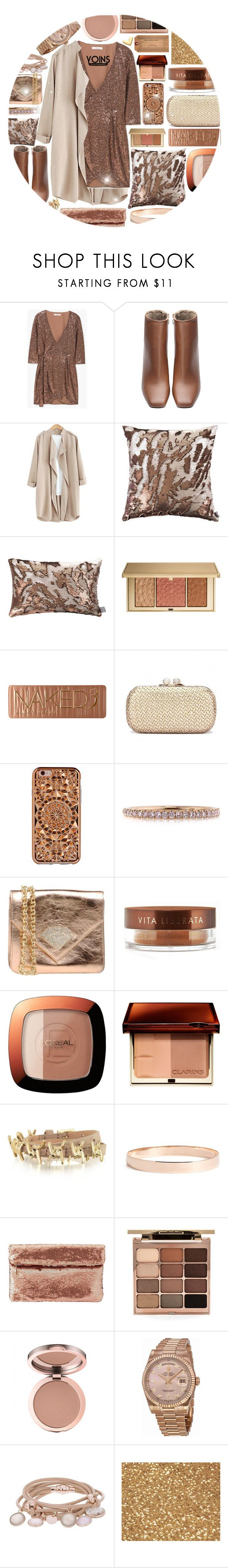 """yoins"" by konstadinagee ❤ liked on Polyvore featuring MANGO, Aviva Stanoff, Estée Lauder, Urban Decay, Felony Case, Mark Broumand, Argento Antico, Vita Liberata, L'Oréal Paris and Dsquared2"