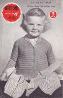 vintage weldons knitting patternchilds cardigan 1940