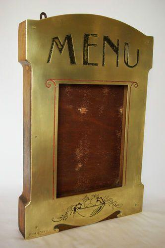 Porte Menu Restaurant ART Nouveau   eBay