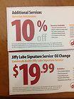 oil change coupon jiffy lube