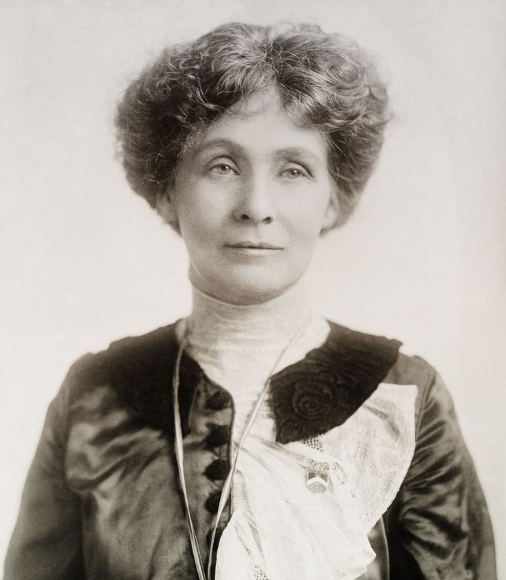"Emmeline Pankhurst, suffragette ""We have to free half of the human race, the women, so that they can help to free the other half."""