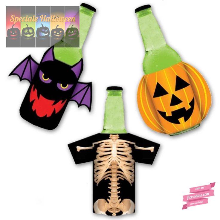 Copribottiglie e Coprilattine per Halloween - Halloween Dresses for Bottles and Cans  Vuoi rendere speciali anche le bottiglie sulla tua tavola il giorno di Halloween? http://www.floreskine.com/copribottiglia-halloween/