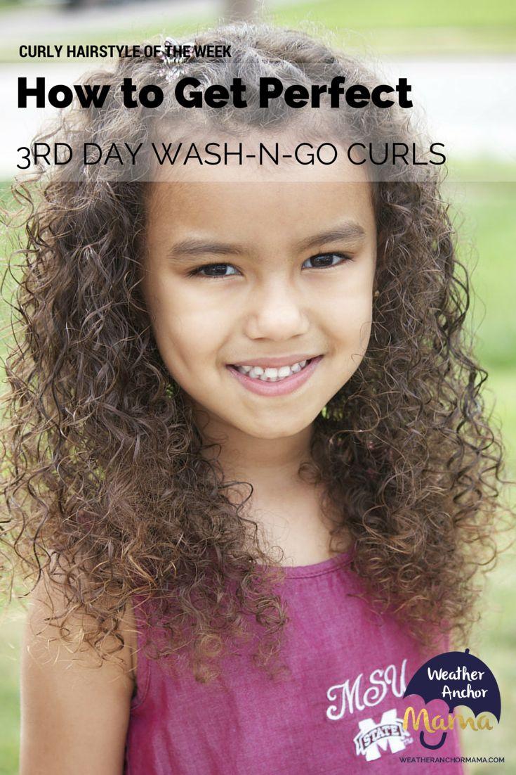 Mixed Hair Care: Third Day Wash-N-Go Curls #naturallycurlyhair #kids #biracial