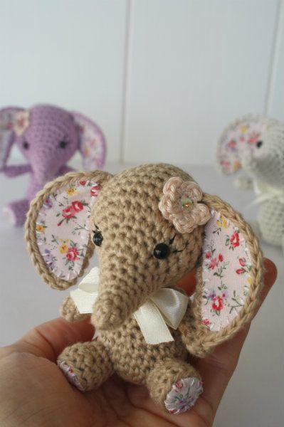 New pattern – Tiny luck elephant. For sale  ༺✿Teresa Restegui http://www.pinterest.com/teretegui/✿༻