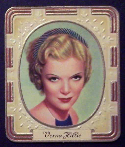 Verna Hillie 1936 Garbaty Passion Film Star Embossed Cigarette Card #27 #Garbaty #TobaccoCards