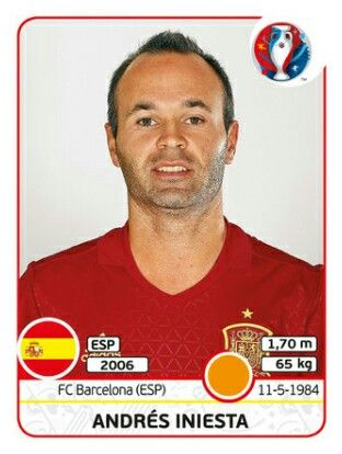 EURO 2016 - André Iniesta - España
