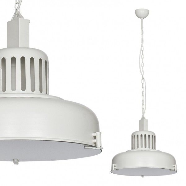 Industrial Large Pendant White
