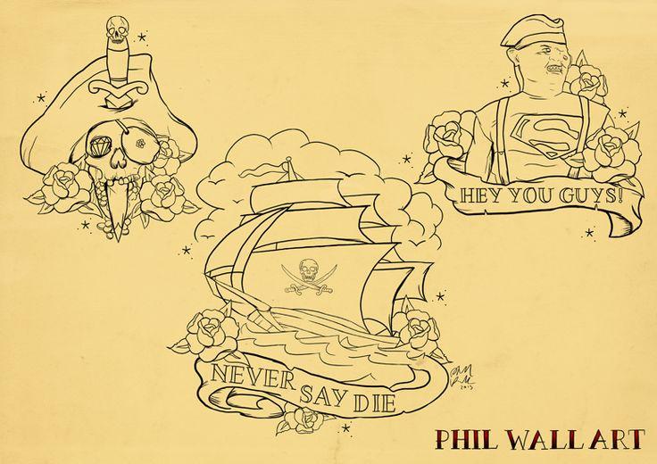 'Goonies' tattoo flash sheet.  I love the Sloth one!!