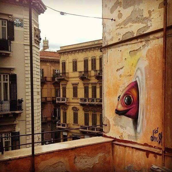 Street art in Palermo, Italy by Davi De Melo Santos