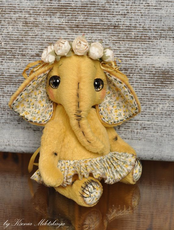 Elephant April free shipping friend Teddy Bears by XeniaMiletskaya, €99.00