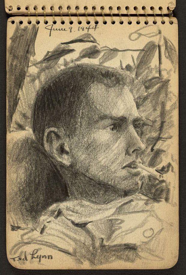 Il faisait le portrait de ses camarades, Victor Lundy avait 21 ans, en 1944, lorsqu'il a rejoint l'Army Special Training Program (Programme militaire d'entraînement spécial) qui proposait, pendant la Seconde Guerre mondiale, aux élèves de certaines universités américaines de poursuivre leurs formations au sein de l'armée dans des domaine spécifiques tels que l' ingénierie, les langues étrangères ou la médecine. Etudiant en architecture, Victor Lundy espérait ainsi participer au programme de…