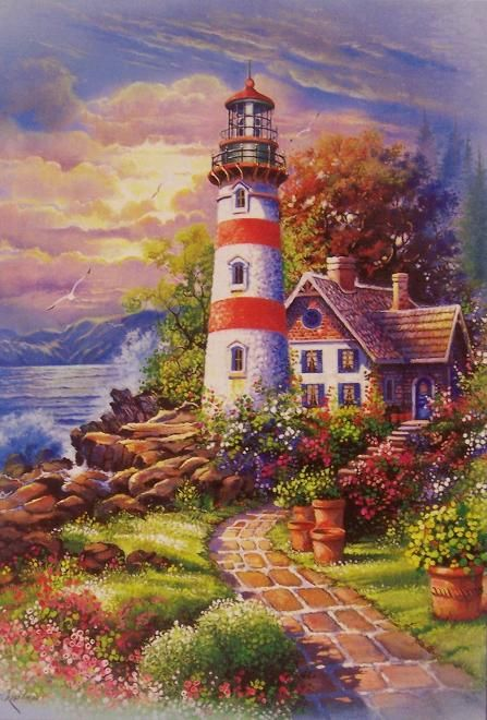 painting of cozy cottage | Cozy Cottage