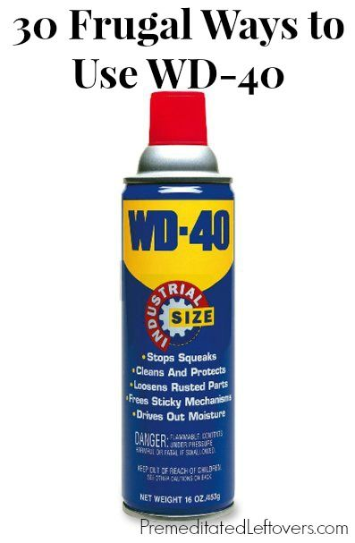 30 Frugal Ways to Use WD-40 - Although WD-40 is primarily used as a lubricant it can be effectively used for so much more.