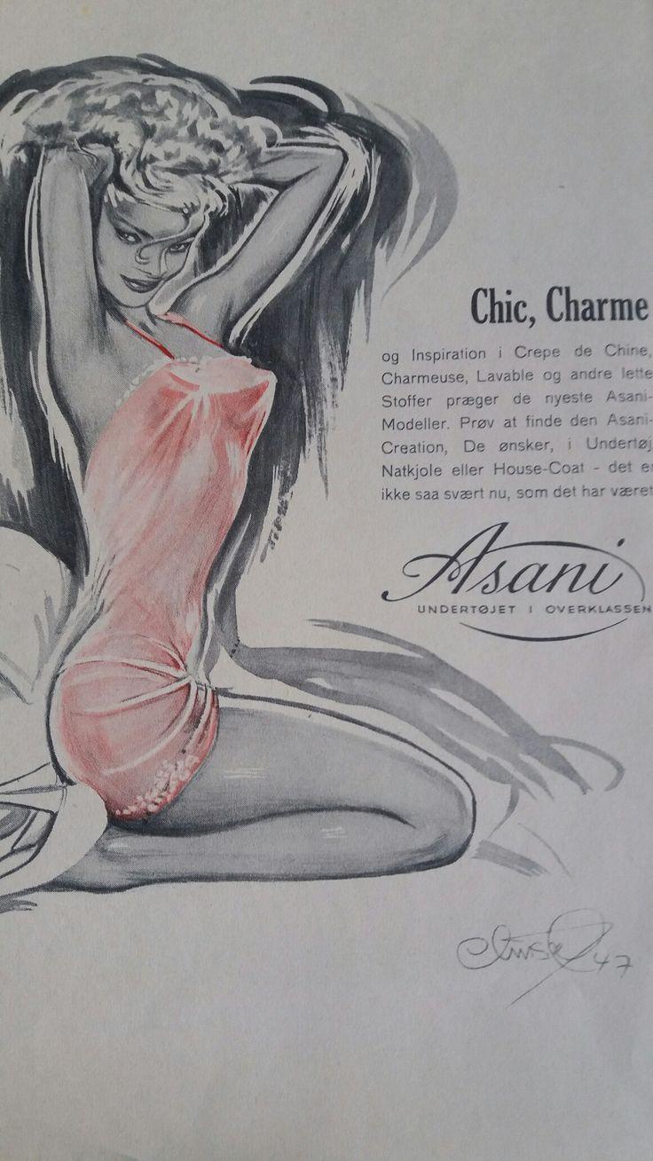 Christel reklame Mønster Tidende 1947