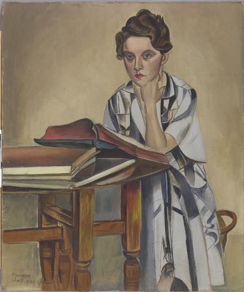 The reader by Wyndham Lewis, 1936, oil on canvas.