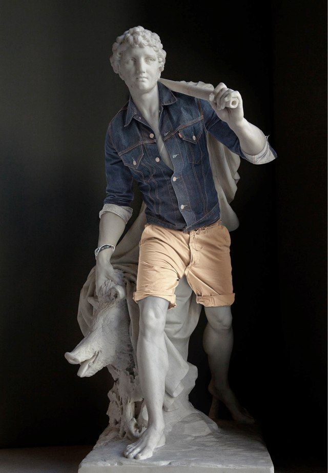 Ancient Greek sculptures dressed up in hipster clothing. - Album on Imgur