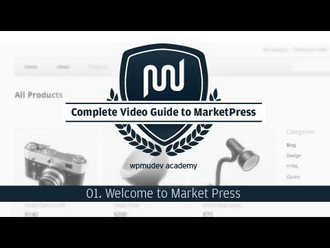 Overview of MarketPress, an eCommerce plugin for Wordpress. Series has about a dozen video tutorials.