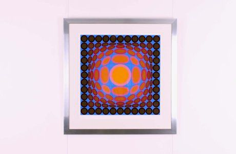 Original Lithography by Victor Vasarely, circa 1970, 97 x 95 cm, ed 120/250