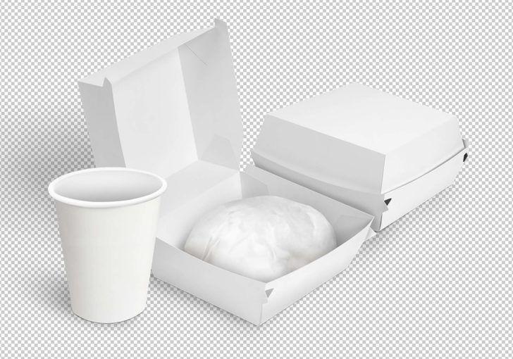 Download Free Burger Box Branding Mockup Free Package Mockups Food Packing Boxes Box Mockup Branding Mockups