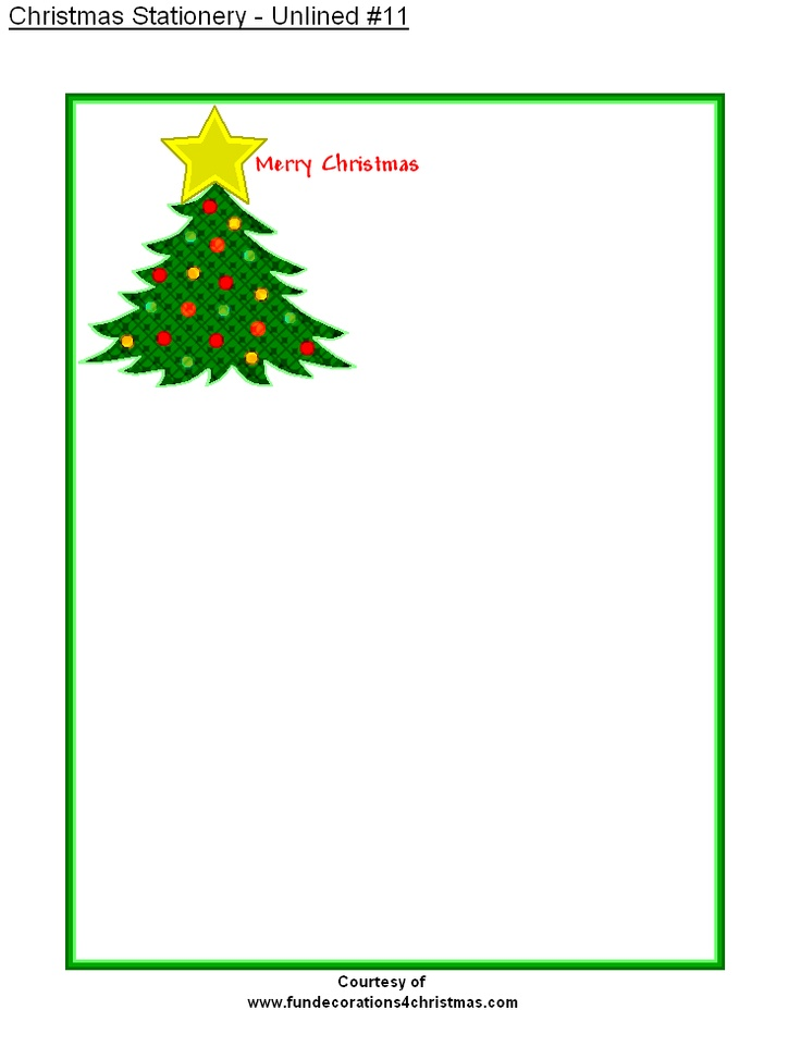 This is a picture of Stupendous Free Printable Christmas Stationery Paper