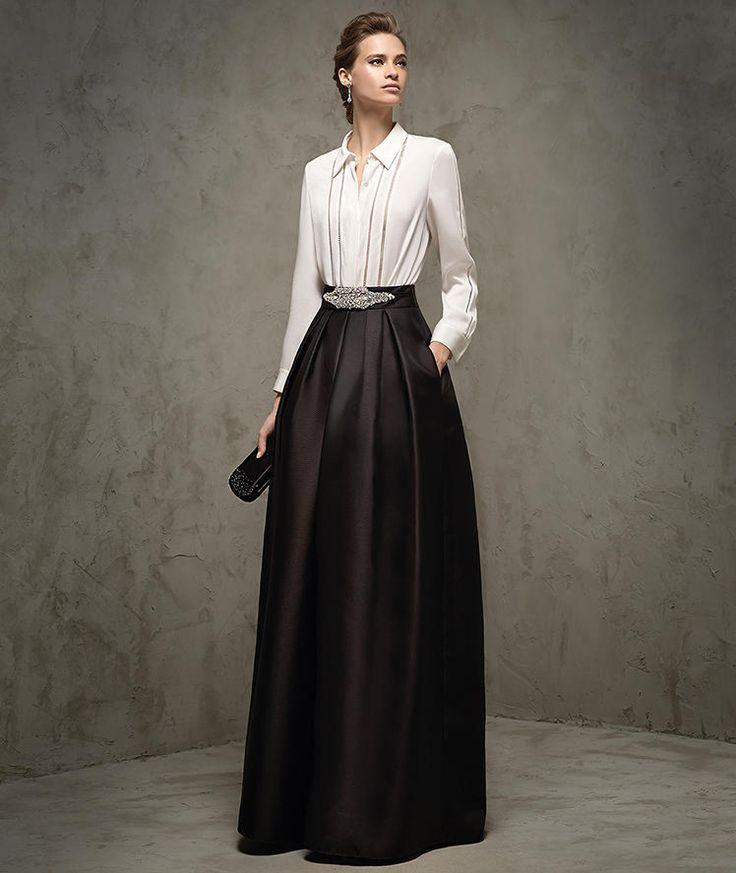 Kamet, falda de fiesta larga