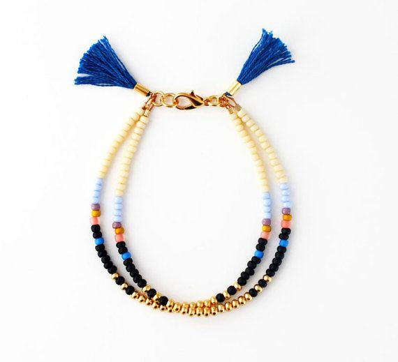 Gift for Her, Friendship Bracelet, Beaded Bracelet, Tassel Bracelet