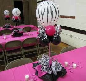 zebra party ((would rather have this in *LEOPARD* but this is a cute idea!))