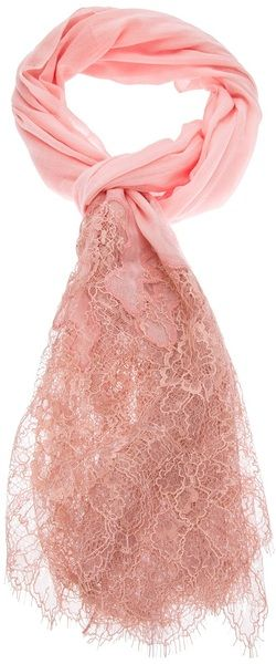 valentino   Lace and Knit Scarf - Lyst