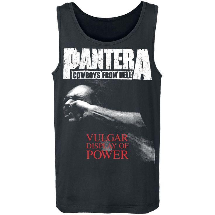 """Canottiera uomo nera """"Vulgar Display Of Power"""" dei #Pantera."""