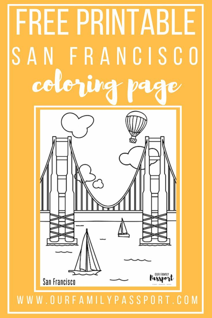 Free San Francisco Kids Coloring Pages San Francisco With Kids
