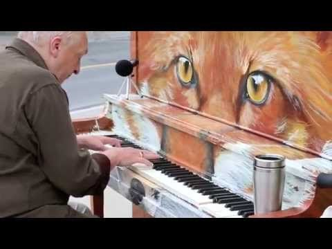 """This older gentleman's rendition of """"Say Something"""" on a street piano will mesmerize you!"""