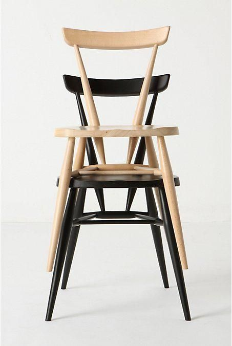 Ercol stacking chair - perfect for additional seating as they look great stacked in a corner!