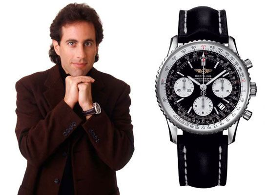 Jerry seinfeld lleva un breitling navitimer jerry seinfeld wear a breitling navitimer watches for Celebrity wearing breitling