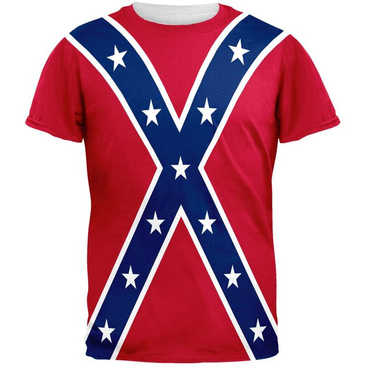 Confederate Rebel Flag All Over Adult T-Shirt