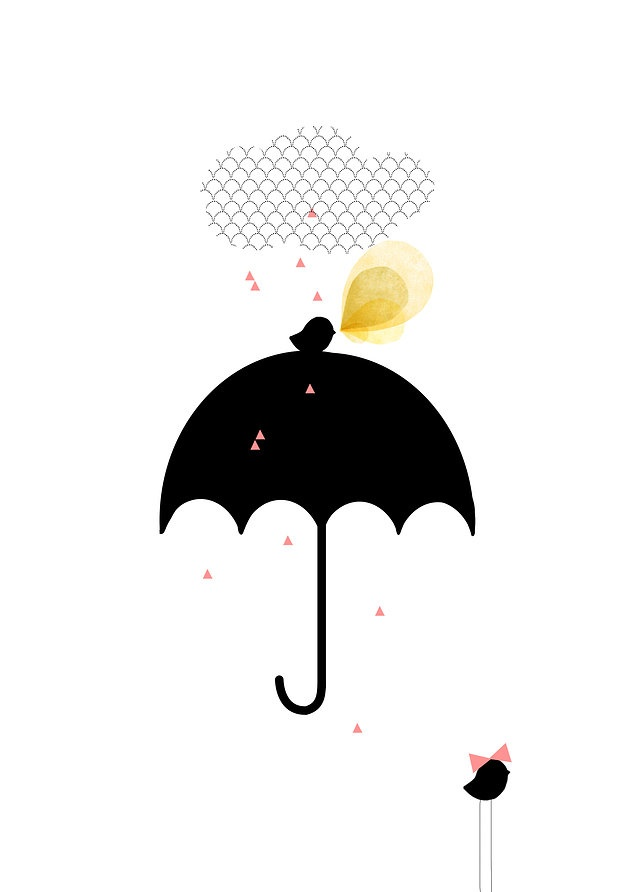 """Petite Pluie"" > illustration: my lovely thing"