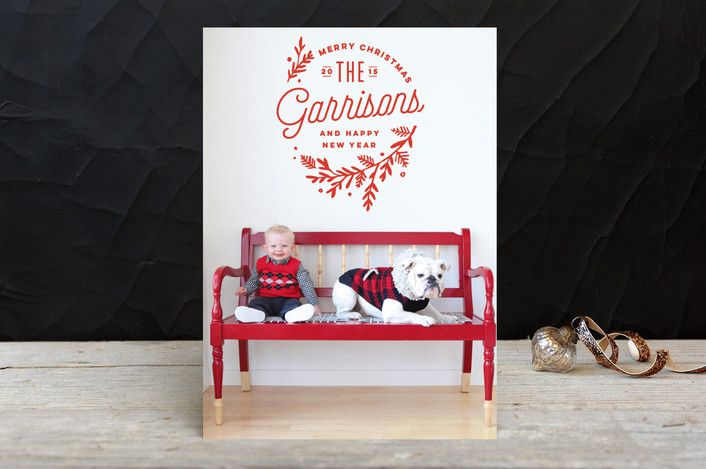 Embellished Holiday Photo Cards by Oscar & Emma | Minted