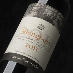 Mongrana Maremma Toscana Querciabella 2011. A juicy, smooth-but-serious blend of Sangiovese, Merlot and Cabernet Sauvignon. Sangiovese (50%); Merlot (25%); Cabernet Sauvignon (25%).