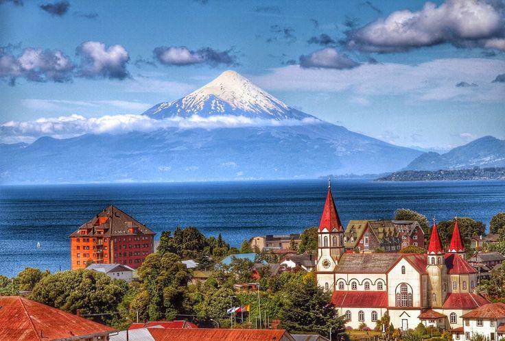 HDR Travel Pictures: Puerto Varas, el lago y el volcán