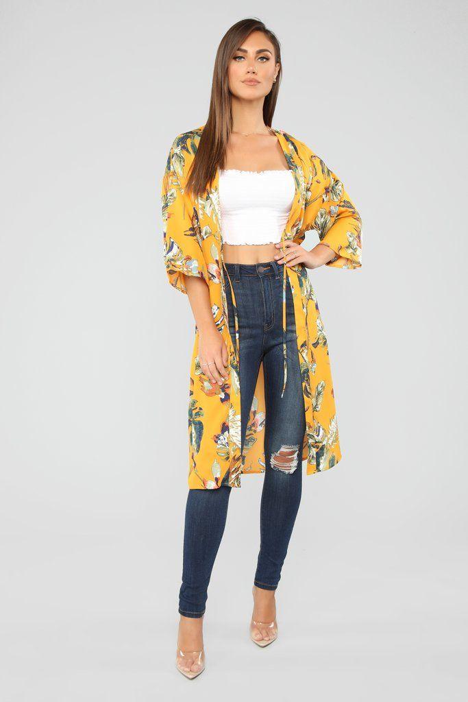 a4d538c235 Life's A Beach Kimono - Mustard in 2019 | Shopping | Beach kimono ...