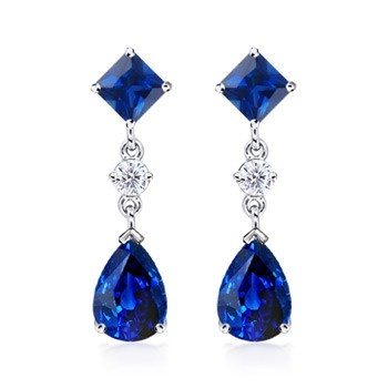 Angara Pear and Marquise Tanzanite Grapevine Earrings SRvUiPy