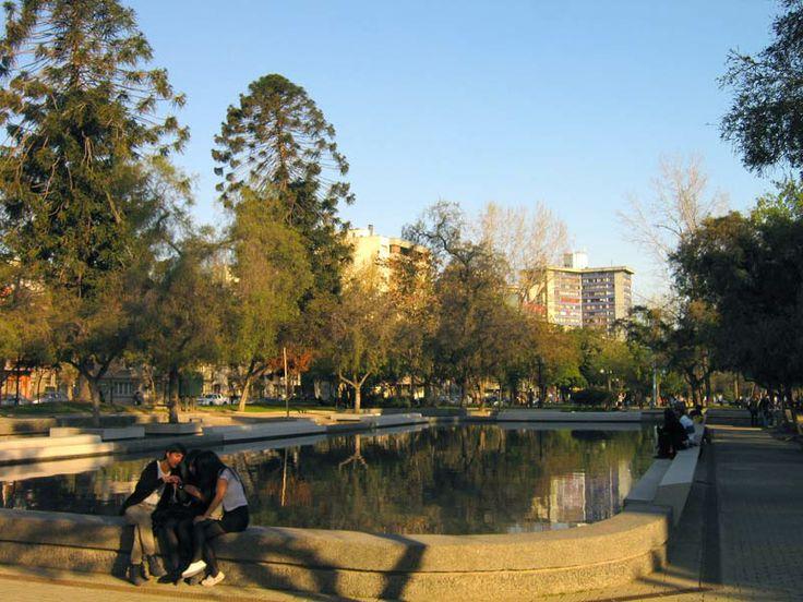 parque bustamante en pleno centro, santiago de chile