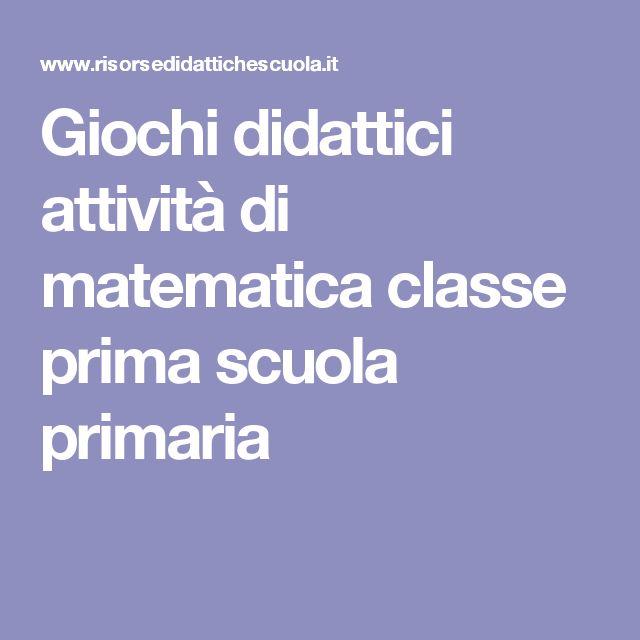Giochi didattici attività di matematica classe prima scuola primaria