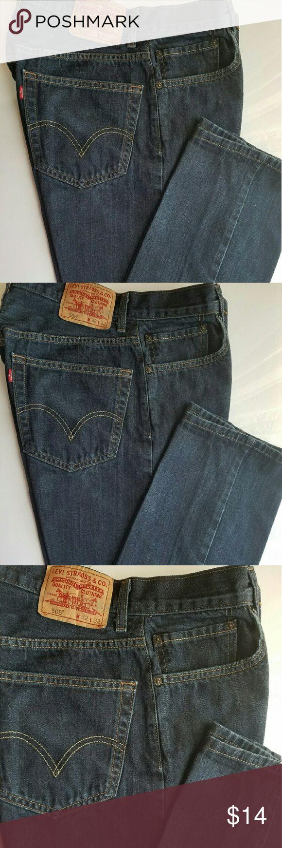 Levi 505 Jeans Unisex 505 Jeans size W 32 L 32 Ladies (10) Regular Fit Levi Jeans Boyfriend