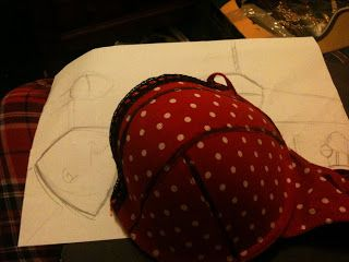Bourbon and Bras: On Teaching Myself How to Make a Bra.. Part One - Cup v.1