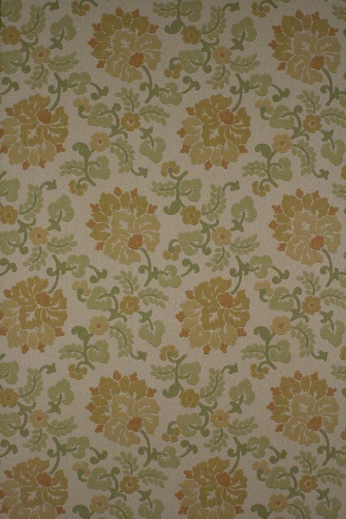 811 '60 annata retro della carta da parati floreale  – 2