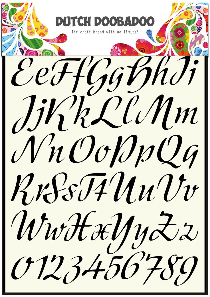 470.455.004 Dutch Doobadoo Alphabet Stencil