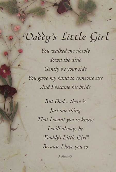 DADDYS LITTLE GIRL FRAMES FOR WEDIDNGS