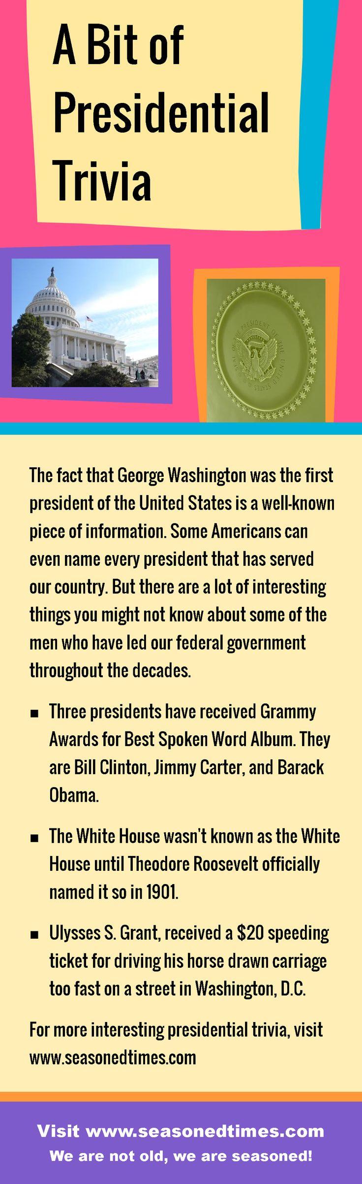 A bit of presidential trivia seasoned times celebrates the seasoned times of life