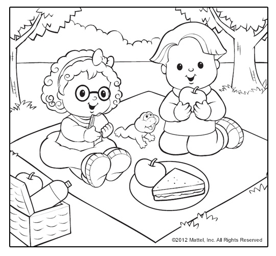little people coloring pages sweet summertime themes for kids to choose from - Pictures Of People To Color